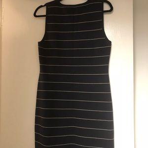 Theory navy and white knit sleeveless dress